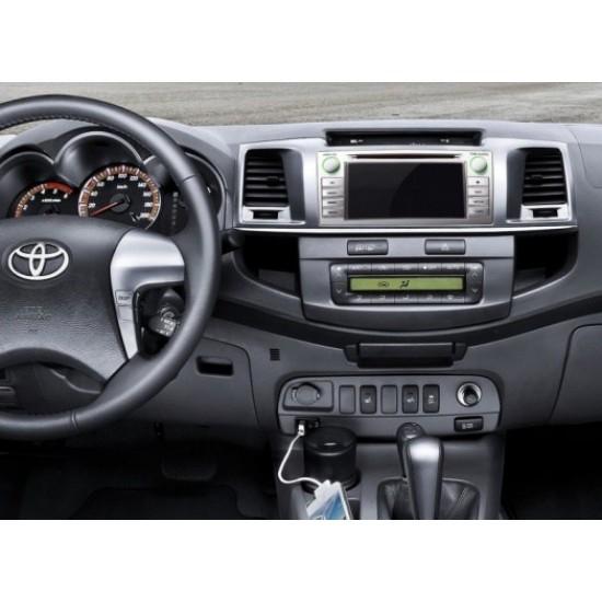 Toyota Hilux multimedijos centras Flyaudio Gamyklinio dizaino