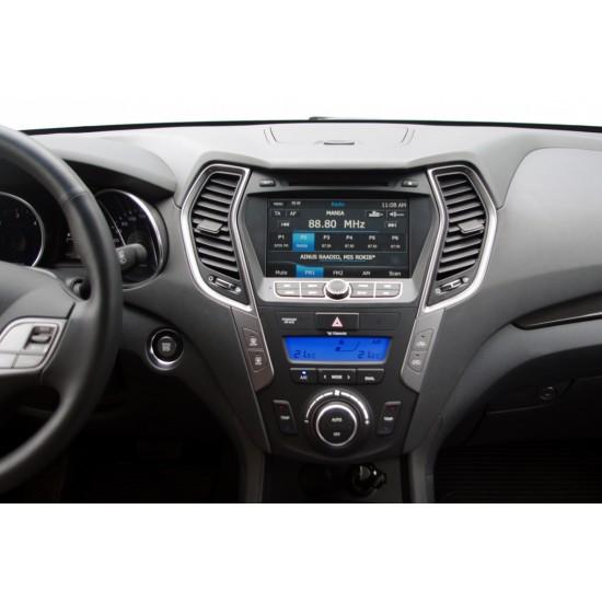 Hyundai Santa Fe multimedija centras Flyaudio U5 Gamyklinio dizaino