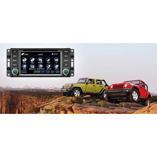 Jeep Compass, Grand Cherokee, Commander, Wrangler multimedijos centras Flyaudio